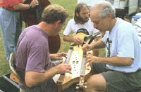 Jamming with Charlie Nelson on JeffͣCafferty Courting Dulcimer (Steve Parks on bouzouki) at Rockbridge Mountain Music Festival, Virginia