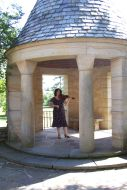 Janet Fiddling in the Gazebo