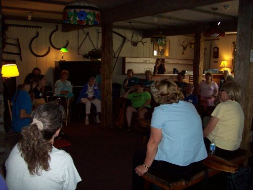 Sunday AM hymn sing in main room